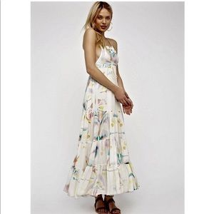 Watercolor Free People Maxi Overall Dress